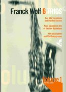 6 TRIOS by Franck Wolf + CD  alto sax & rhythm section