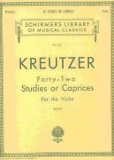 KREUTZER - 42 Studies or Caprices for the Violin / housle