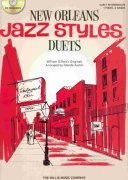 JAZZ STYLES - NEW ORLEANS - PIANO DUETS (red) + CD / 1 piano 4 hands